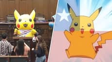 Woman In Pikachu Costume Writing New Chilean Constitution