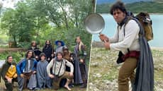 Friends Dress As The Fellowship Of The Ring, Travel Italy, Cast Ring Into Volcano