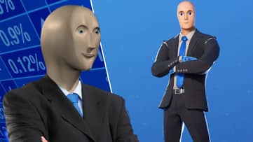 'Fortnite' Has Released The Stonks Meme As A New Skin, No It's Not A Joke