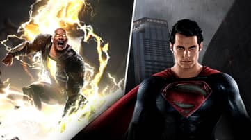 Black Adam Takes On Henry Cavill's Superman In Stunning New Image