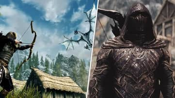 'Skyrim' Player Finds Incredibly Stylish Way To Prevent Fall Damage