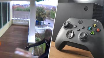 Delivery Guy Caught On Camera Carelessly Tossing Xbox Series X Onto Porch