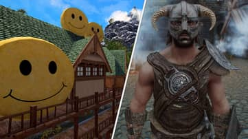 'Skyrim' Modder Accidentally Turns City Into Acid-Smiley Cheese Wheel Nightmare