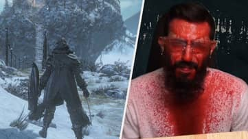 'Dark Souls' Player Gets Soaked With Blood Every Time He's Hit In-Game