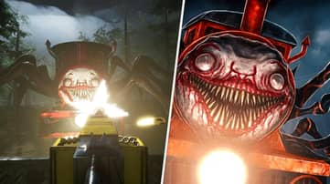 Escape A Demonic Spider Train In This Open-World Horror Game