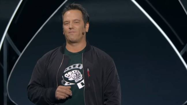 Phil Spencer on stage at Microsoft's E3 2019 press conference