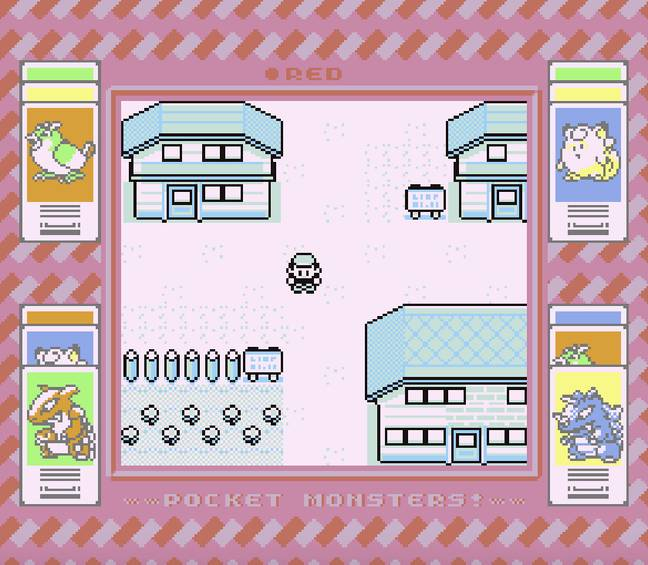 A screen from Pokémon Red/Pocket Monsters Akai, running on a Super Game Boy / Credit: Nintendo, Game Freak (via MobyGames.com)