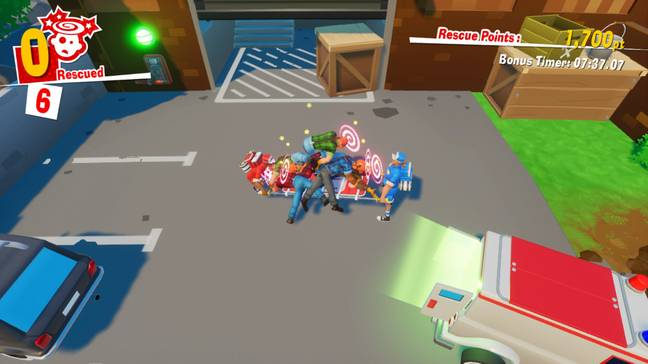 The Stretchers - A Pile of Patients / Credit: Nintendo