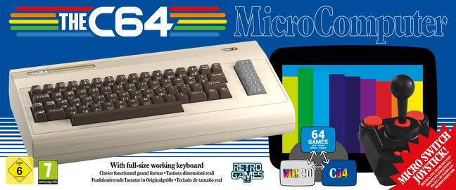 The C64's packaging