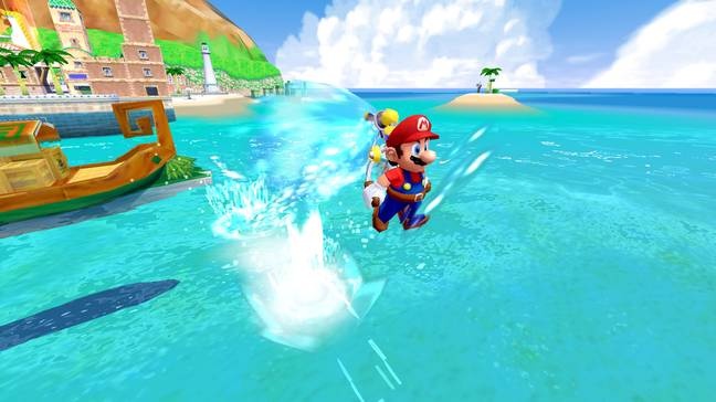 Super Mario Sunshine in Super Mario 3D All-Stars / Credit: Nintendo