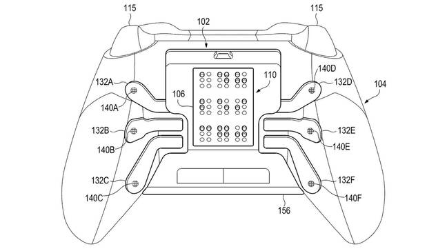 The patent for a Microsoft controller featuring braille / Credit: Microsoft, US Patent and Trademark Office