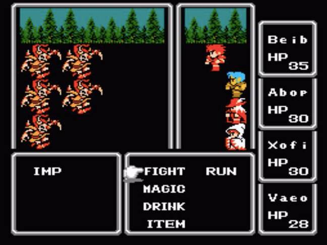 Final Fantasy on the NES / Credit: Square Co, Nintendo, MobyGames.com