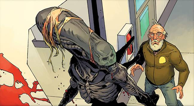 A panel from the Dark Horse release of Alien 3: The Unproduced Screenplay / Credit: 20th Century Fox, Dark Horse Comics