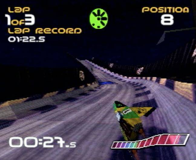 A screenshot from WipEout / Credit: SCE, Psygnosis, mobygames.com