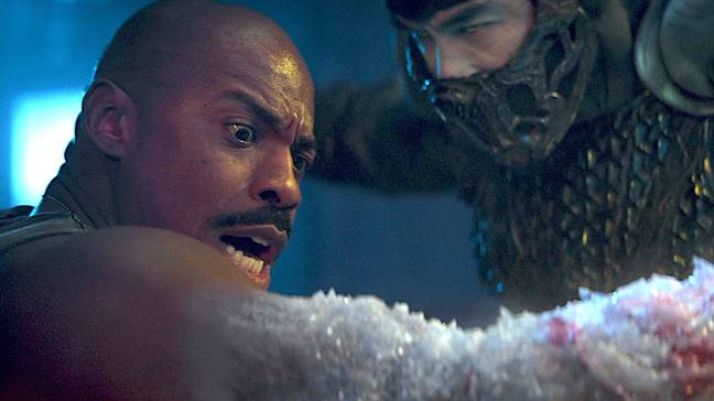 Jax will lose his arms to Sub-Zero in the new movie, as shown in the trailer / Credit: Warner Bros. Pictures