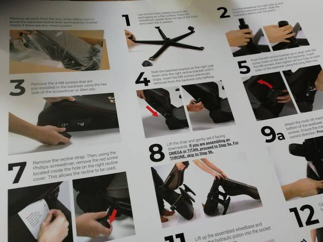 The assembly instructions are pretty clear / Credit: Secretlabs, the author