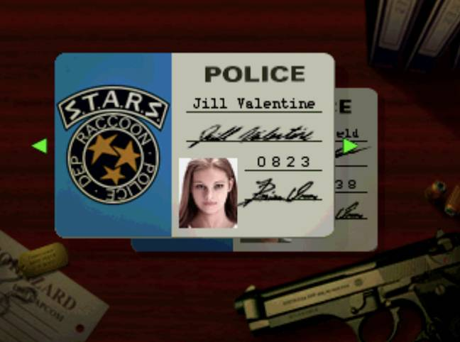 Choosing to play as Jill in Resident Evil, 1996 / Credit: Capcom, MobyGames.com