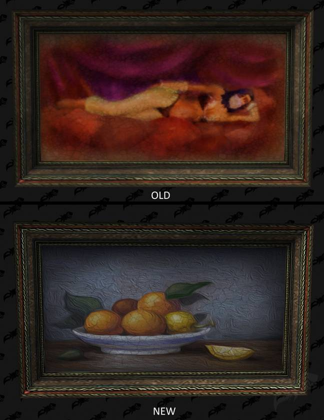 The old painting and the new painting in 'World of Warcraft' / Credit: Wowhead, Blizzard