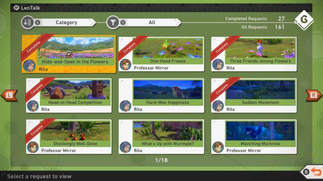 'New Pokémon Snap' - Research Requests