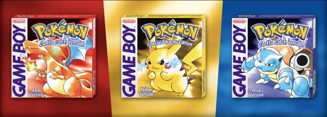 The internationally released editions of Pokémon Red, Yellow and Blue / Credit: Nintendo