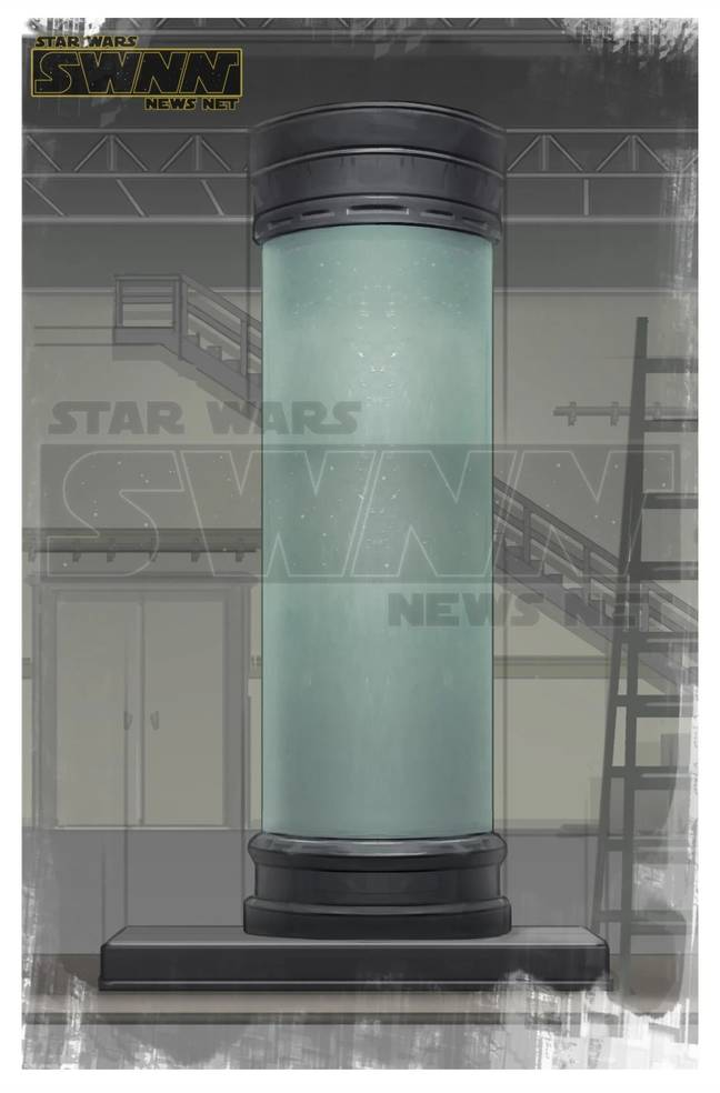 Apparent concept art of the bacta tank used by the villain / Credit: Star Wars News Net