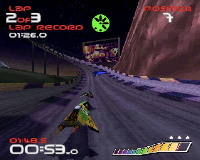A screenshot from WipEout / Credit: SCE, Psygnosis