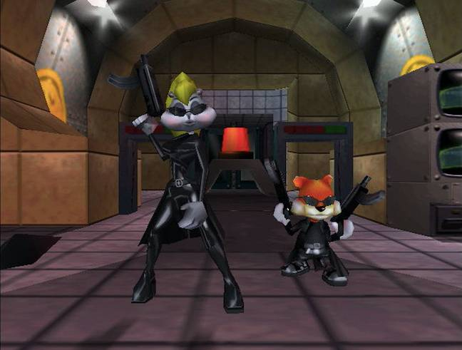 Conker and Berri, during the game's Matrix-parodying sequence