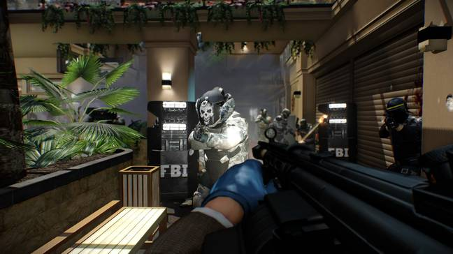 Think of Payday as Left 4 Dead with police instead of zombies
