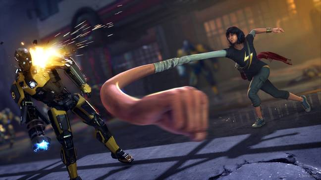 Punching enemies with Kamala feels weighty and fun