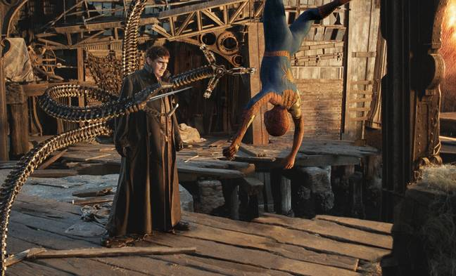 Alfred Molina and Tobey Maguire as Doc Ock and Spider-Man in 'Spider-Man 2' / Credit: Sony Pictures