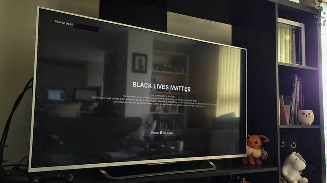 Call of Duty's Black Lives Matter screen / Credit: Tom Ryan-Smith, GAMINGbible