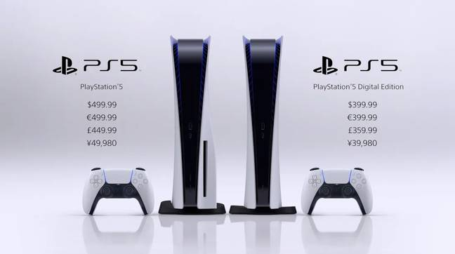 The PlayStation 5 comes in a digital-only model and one that uses discs, too / Credit: Sony Interactive Entertainment