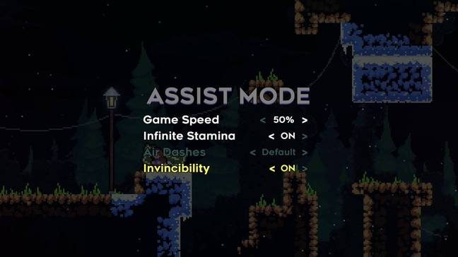 Accessibility options in 'Celeste' / Credit: Matt Makes Games