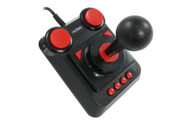 The C64's included joystick