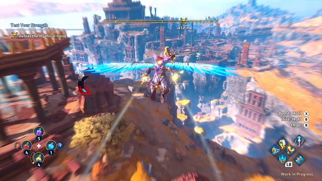 Falling with style in Immortals Fenyx Rising / Credit: Ubisoft
