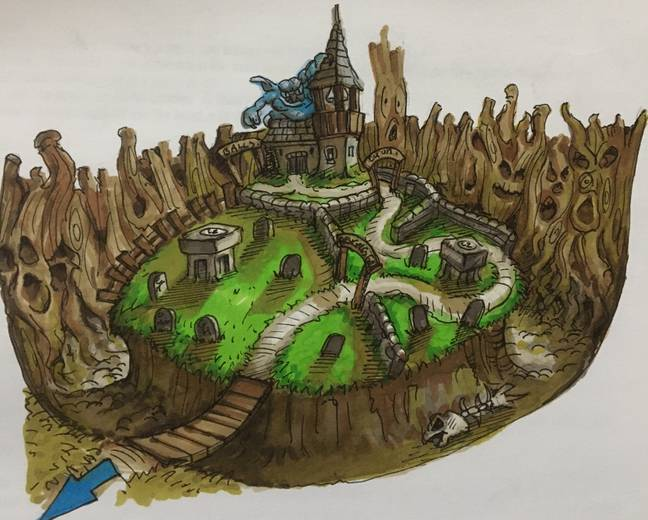 Concept art from Conker's Bad Fur Day