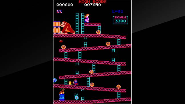 The Arcade Archives version of Donkey Kong / Credit: Nintendo