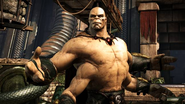 Goro, seen here in Mortal Kombat X, is a series mainstay, also appearing in the movie / Credit: Warner Bros. Interactive Entertainment
