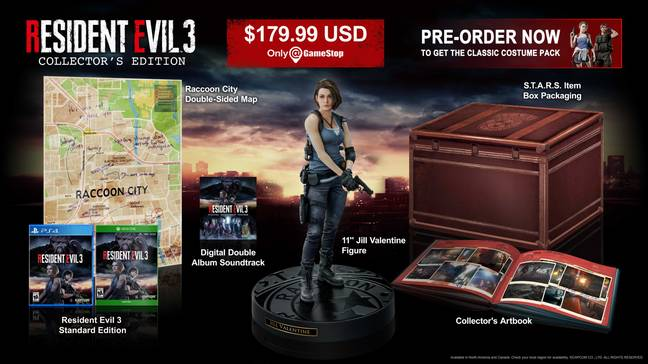 Resident Evil 3: Collector's Edition / Credit: Capcom