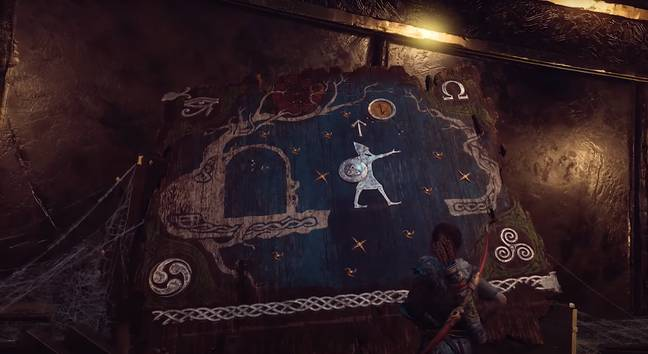 The image showing Tyr travelling magically in 'God Of War' / Credit: Sony Santa Monica