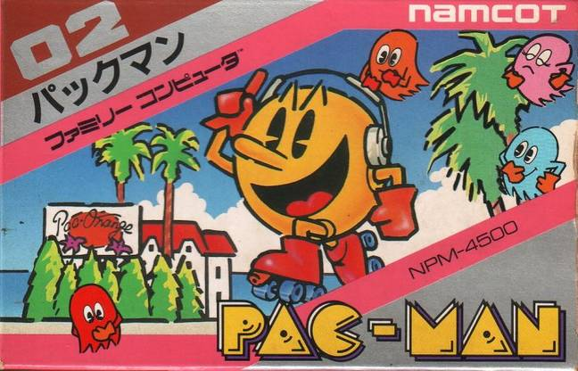 Pac-Man box art for the Nintendo Famicom, 1984 / Credit: Namco, MobyGames