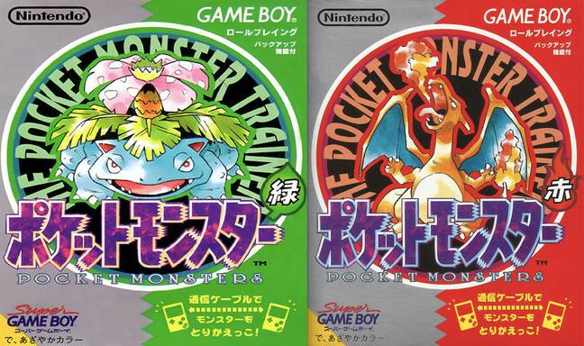 The original Japanese versions of Pokémon Red and Green
