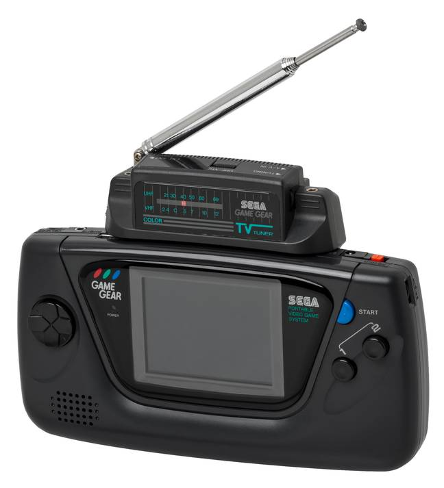 The SEGA Game Gear with TV Tuner inserted / Credit: Evan Amos