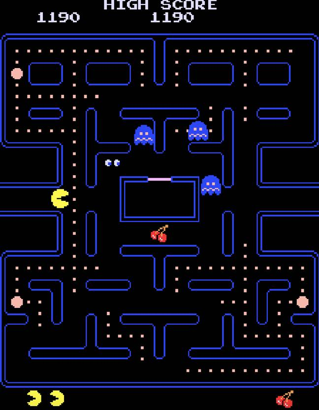 The arcade version of Pac-Man / Credit: Namco Limited, MobyGames.com