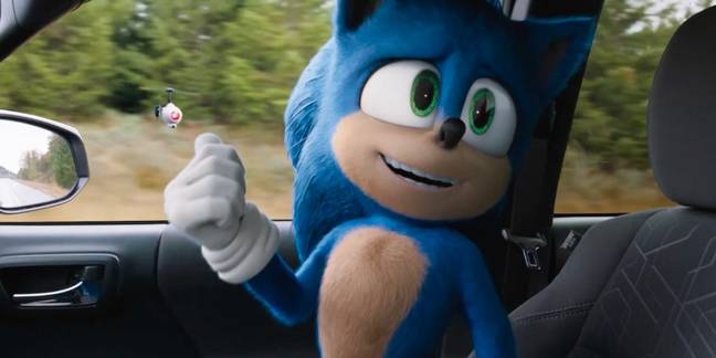 Sonic in the Sonic the Hedgehog movie / Credit: SEGA, Paramount Pictures
