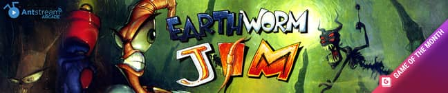 Earthworm Jim is our game of the month on Antstream Arcade