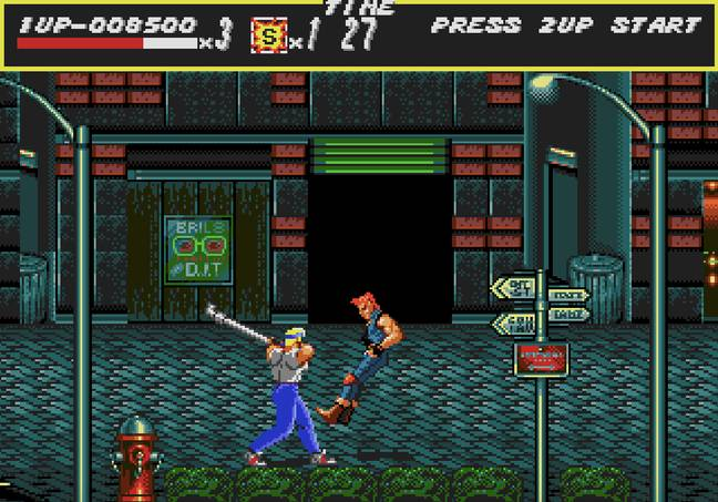 Axel in action in the original Streets of Rage / Credit: SEGA, MobyGames