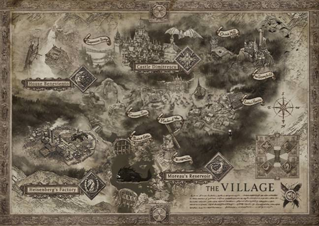 The map included in the Collector's Edition of Resident Evil Village / Credit: Capcom