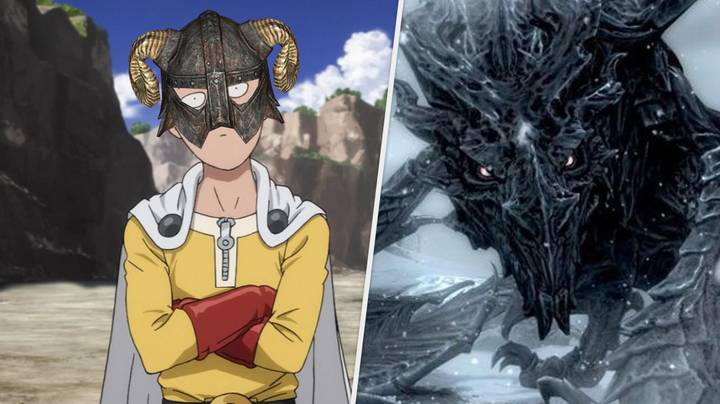 'Skyrim' Player Forges One Punch Man Gauntlets, One-Bombs Alduin The World Eater