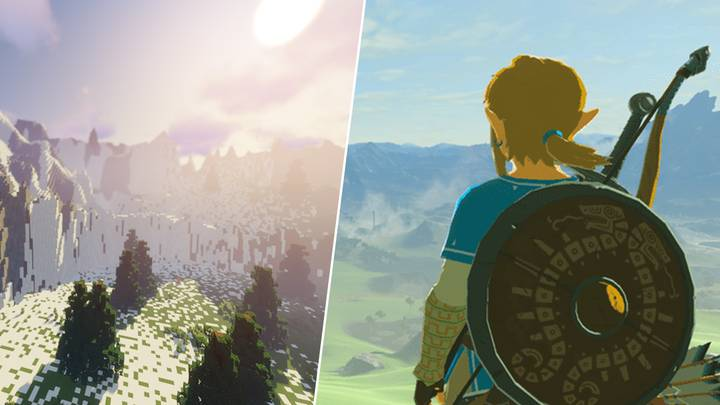 Legend of Zelda Fan Is Building The Entire 'Breath Of The Wild' Map In 'Minecraft'